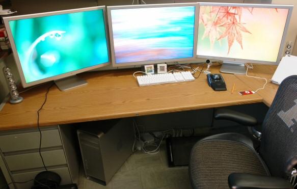 Mac Pro triple monitor setup
