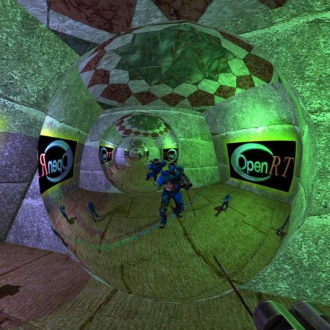 quake 3, raytraced in real time