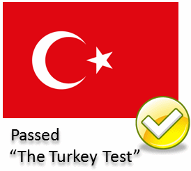Passed 'The Turkey Test'