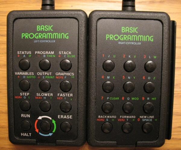 Atari 2600 BASIC programming keypads