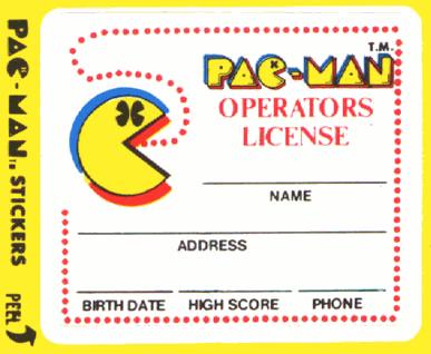 Pac-Man Operators License