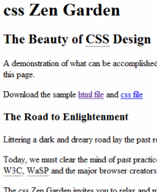 MVC: HTML = Model