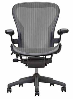 The Aeron was a visual expression of the anti corporate zeitgeist a non hierarchical philosophy about the workplace An office