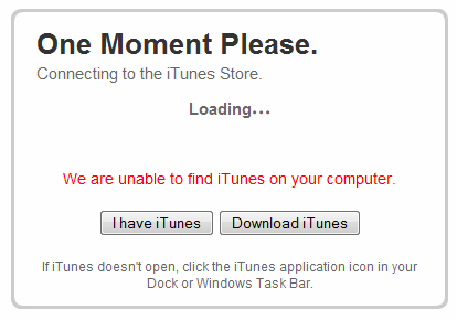 We are unable to find iTunes on your computer.