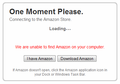 unable to find Amazon on your computer