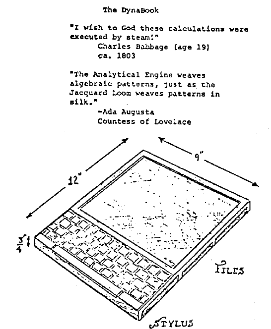 original dynabook diagram