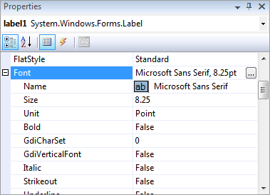 Windows Forms, Visual Studio 2008 default font