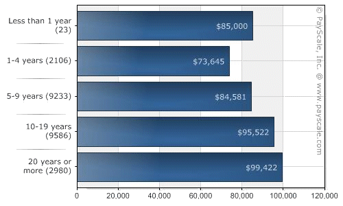 programmer salary graph, as of late 2008