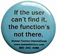 If the user can't find it, the function's not there
