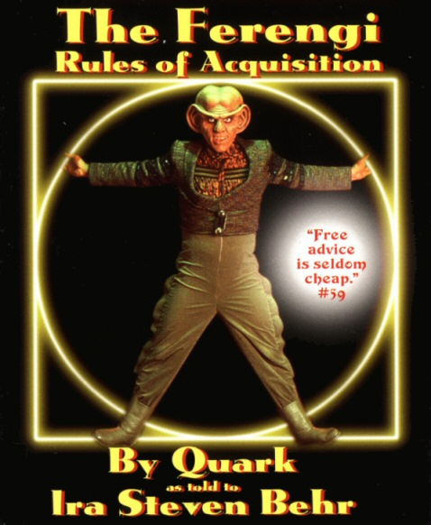 Ferengi Rules of Acquisition, book cover