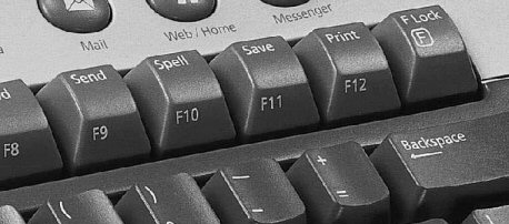 keyboard with remapped function keys and f-lock