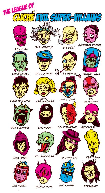The League of Cliche Evil Super Villains