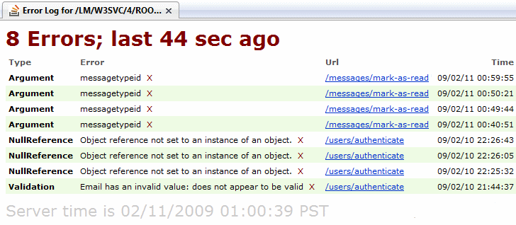 stackoverflow exception log
