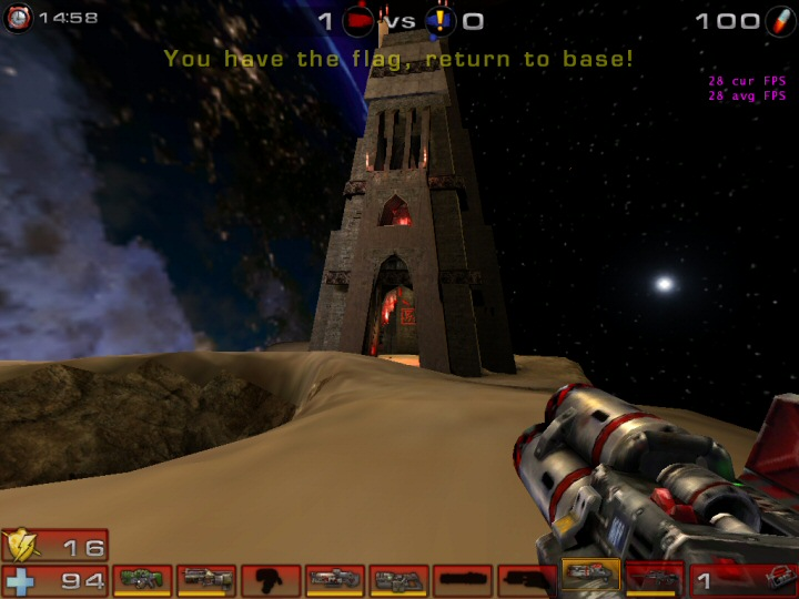 ut2004 running with Pixomatic software rendering, 32bpp and bilinear filtering