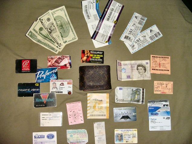 Wallet-contents