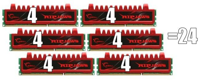 24 gigabytes of DDR3 RAM