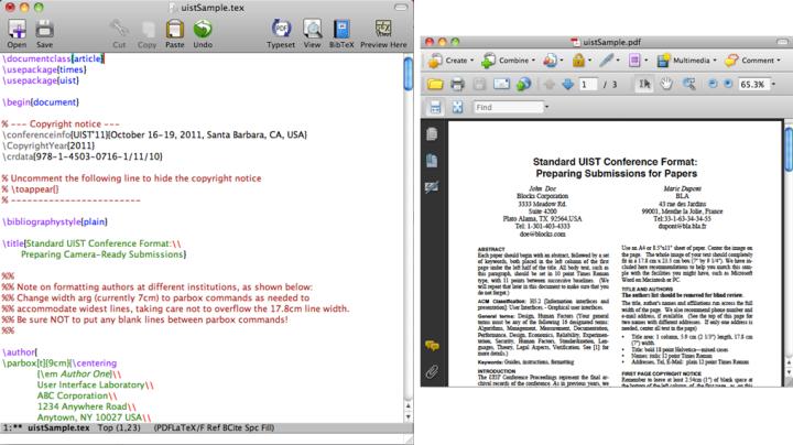 PDF vs. TeX