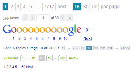 Pagination-examples