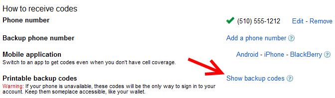 Google-backup-email-codes