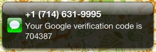 Google-text-email-verification
