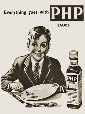 Everything goes with PHP sauce! Including crushing depression.
