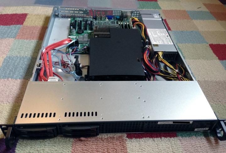 Newly built rackmount 1U server