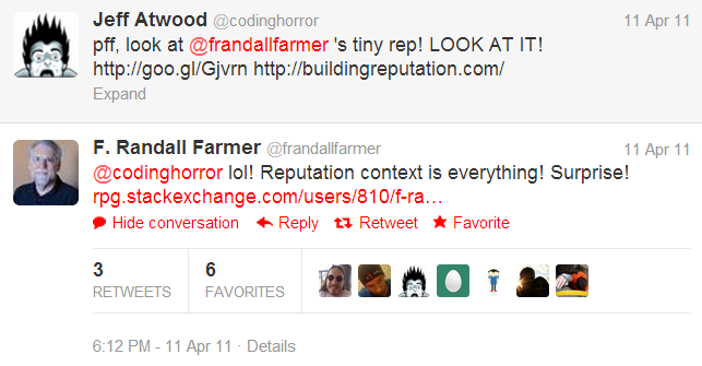 pff, look at @frandallfarmer's tiny rep! look at it!